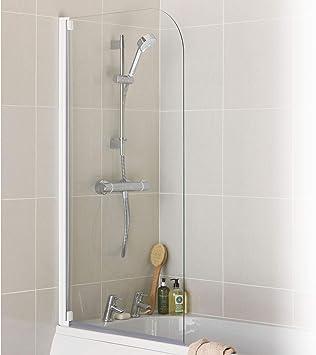 Argos Home - Mampara de baño y ducha con marco medio y radio, color blanco: Amazon.es: Bricolaje y herramientas