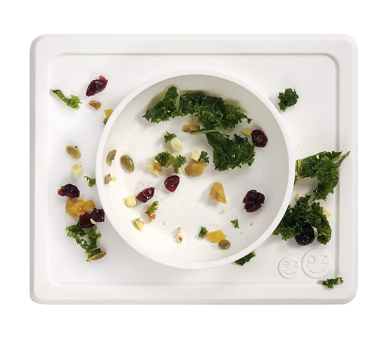 ezpz Mini Bowl One-Piece Silicone placemat Bowl Cream