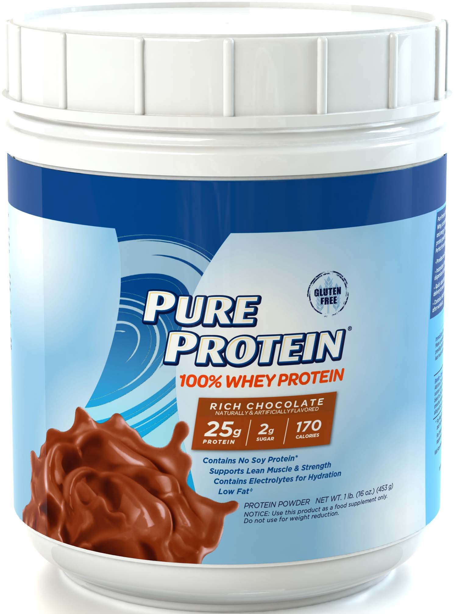 Pure Protein® 100% Whey Powder - Rich Chocolate, 1 pound