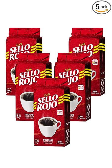 Cafe Sello Rojo |  Cà phê cà chua và thương mại tại Colombia |  Cà phê Colombia 100% rang xay rang rang cà phê |  Cà phê cao chỉ |  Cà phê xay ra số lượng lớn 5 lb