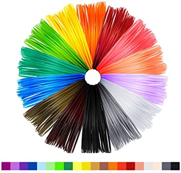 NEXGADGET Filamentos 3D Lápiz de Recambio 20 Colores Diferentes ...