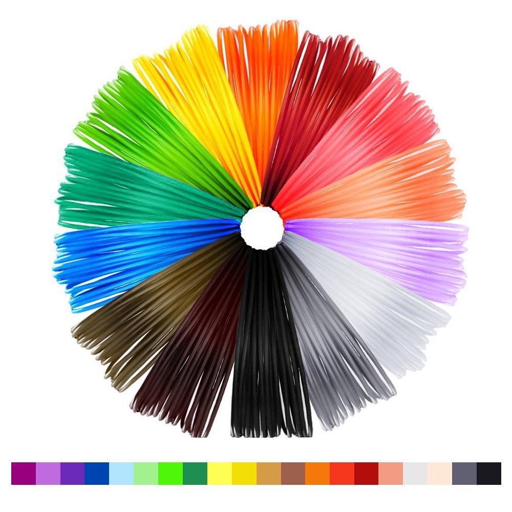 NEXGADGET Filamentos Lápiz 3D 20 Colores Diferentes 1.75mm PLA