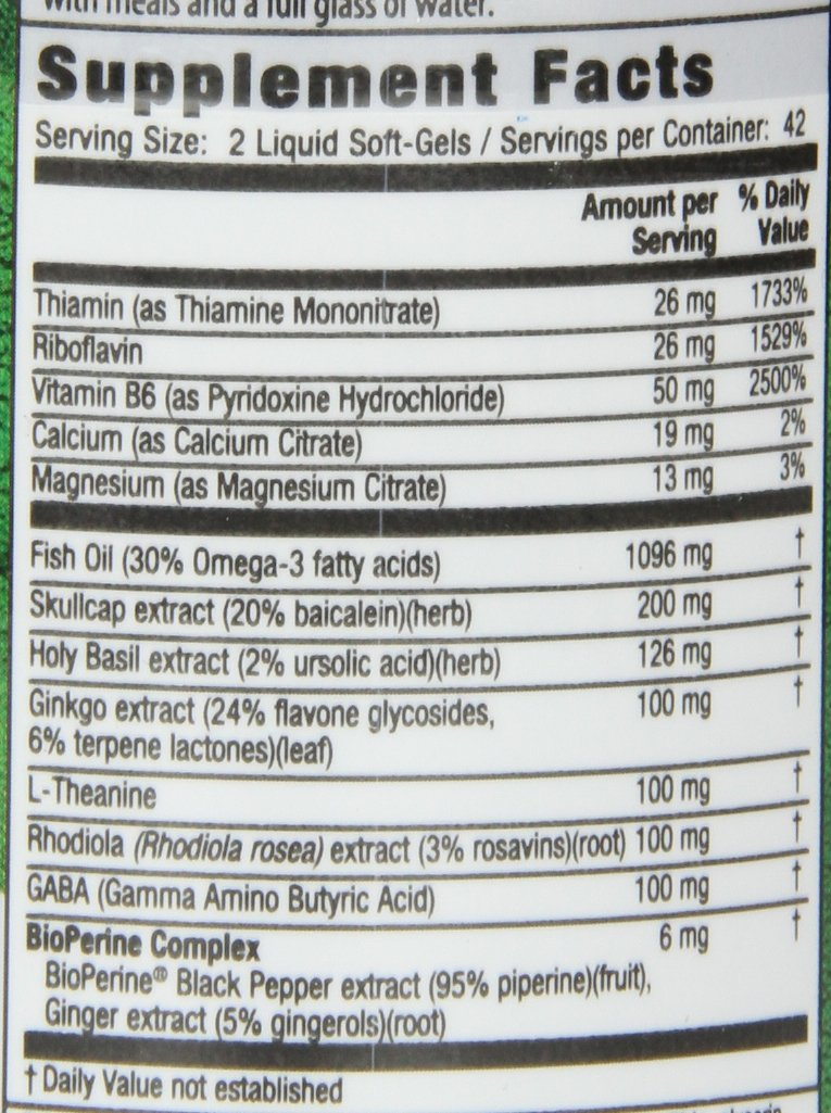 Irwin Naturals Stress-Defy, Balanced Relaxed Calm, Stressful Day Neutralizer, 84 Liquid Softgels by Irwin Naturals (Image #2)