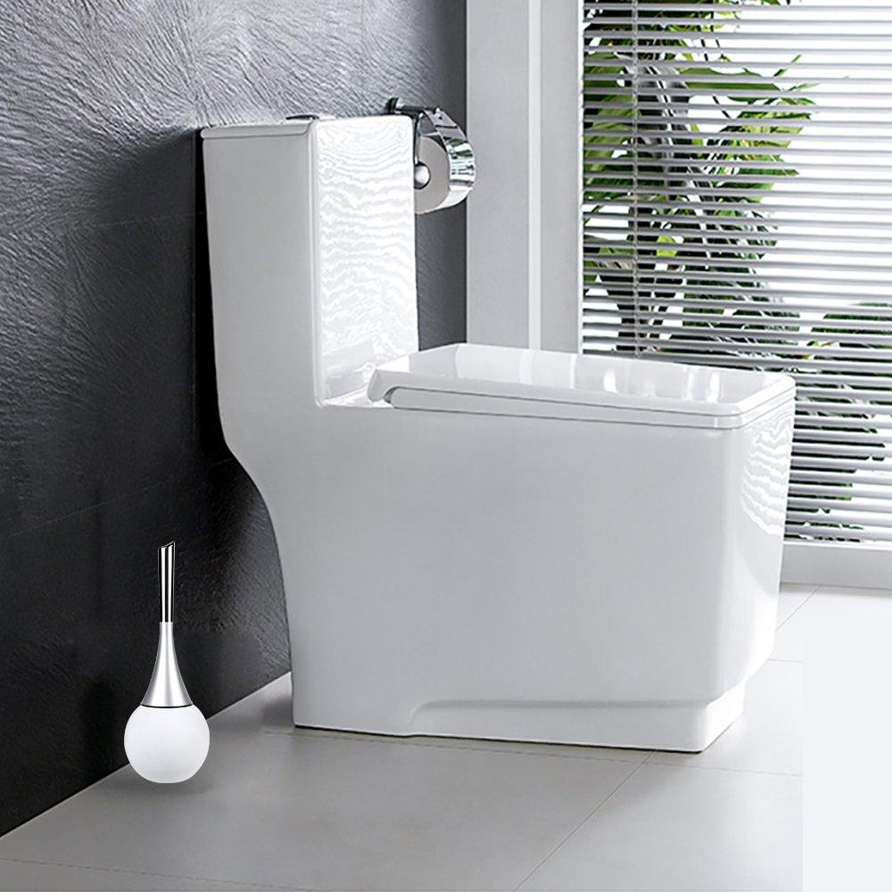 Cepillo de WC moonlux Escobilla de Ba/ño Elegante Escobilla para ba/ño con Soporte de Acero Inoxidable Incluido Cepillo de Ba/ño Escobilla WC Escobilleros de ba/ño
