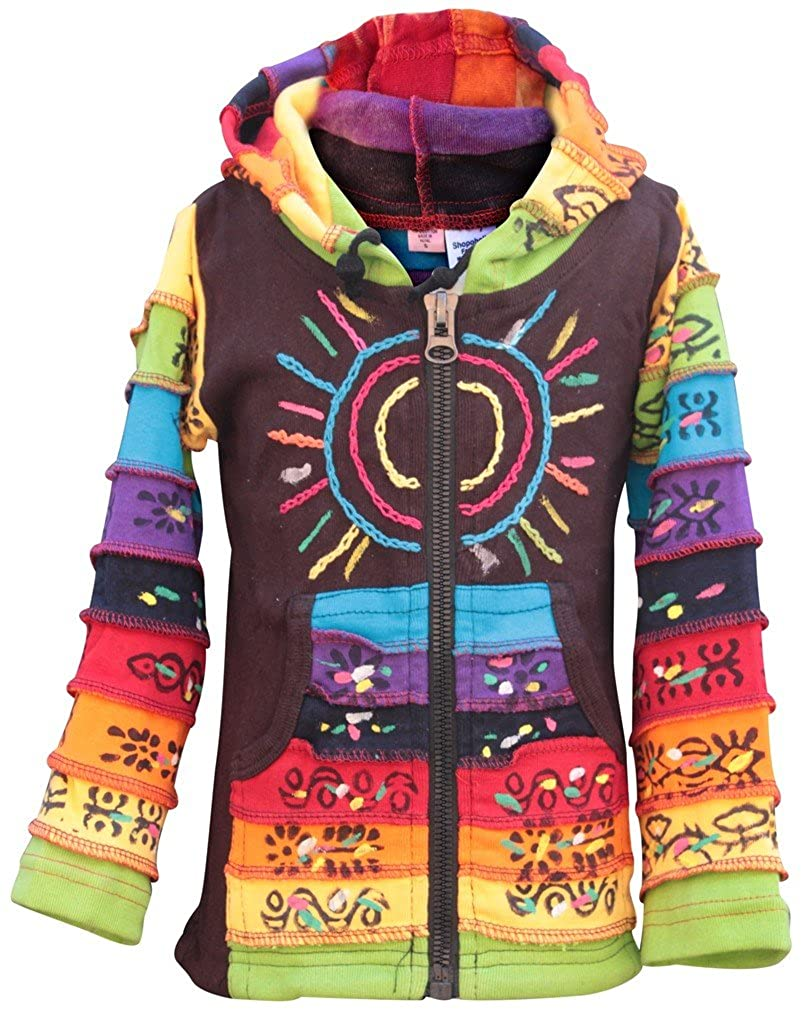 SHOPOHOLIC FASHION Sun Patchwork Kids Hippie con Cappuccio