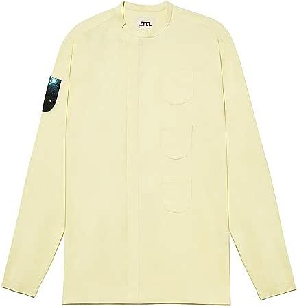 DALAL ALHASAN Colección In His Pocket SS18 - Camisa Amarilla Para Hombre - Hecho EN España (Grande): Amazon.es: Ropa y accesorios