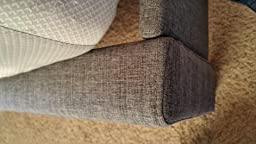 Amazon Com Zinus Upholstered Square Stitched Platform