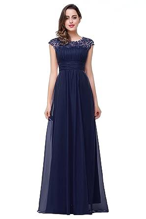 Babyonline® Beliebt Damen Lang Chiffon Abendkleider Ballkleid ...