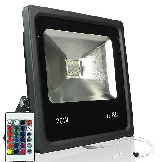 RPGT 20W RGB LED Delgado Foco Proyector Luz, 16 Colores con ...