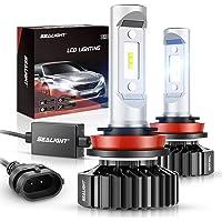 $39 » SEALIGHT H11/H8/H9 LED Bulbs X1 Series 12 CSP Chips 14000LM 6000K Xenon White Non…