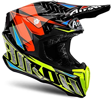 Airoh Casco Mx Twist Iron-Anaranjado (Xl, Negro)