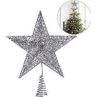 Adornos copa del árbol de navidad