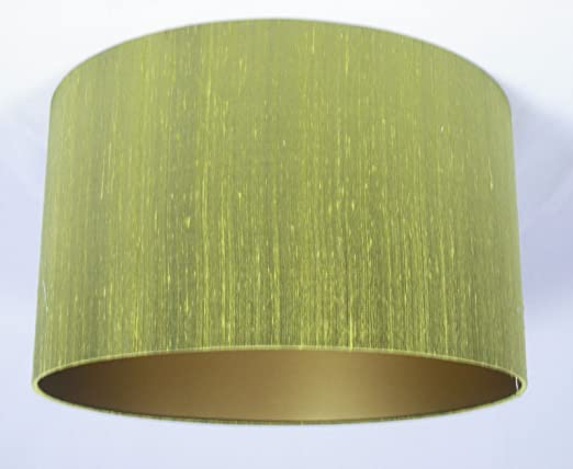 16 lampshade handmade in uk lime green silk with a gold lining 16 lampshade handmade in uk lime green silk with a gold lining amazon lighting aloadofball Image collections