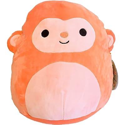 Squishmallow 8 Inch Orange Monkey Stuffed Plush Toy: Toys & Games