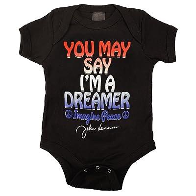John Lennon Dreamer Unisex Baby One Piece Romper Infant Bodysuit, 18M