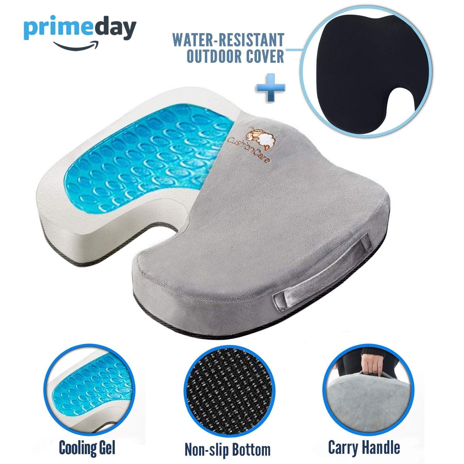 CushionCare Coccyx Memory foam Cushion
