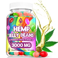 Hemp Jelly Beans for Stress & Anxiety, Premium Hemp Supplement to Reduce Inflammation...