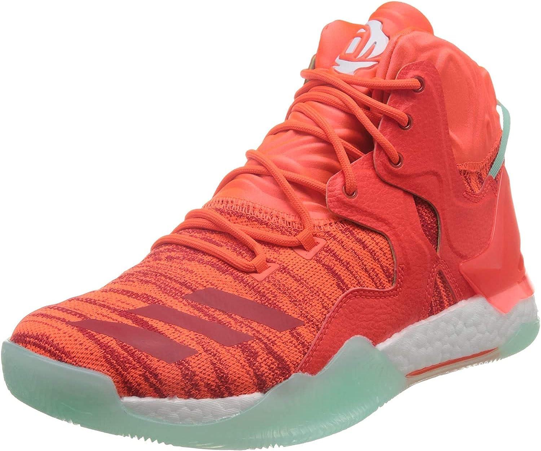 adidas D Rose 7 Primeknit, Zapatillas de Baloncesto para Hombre Multicolor Solred Ftwwht Icegrn