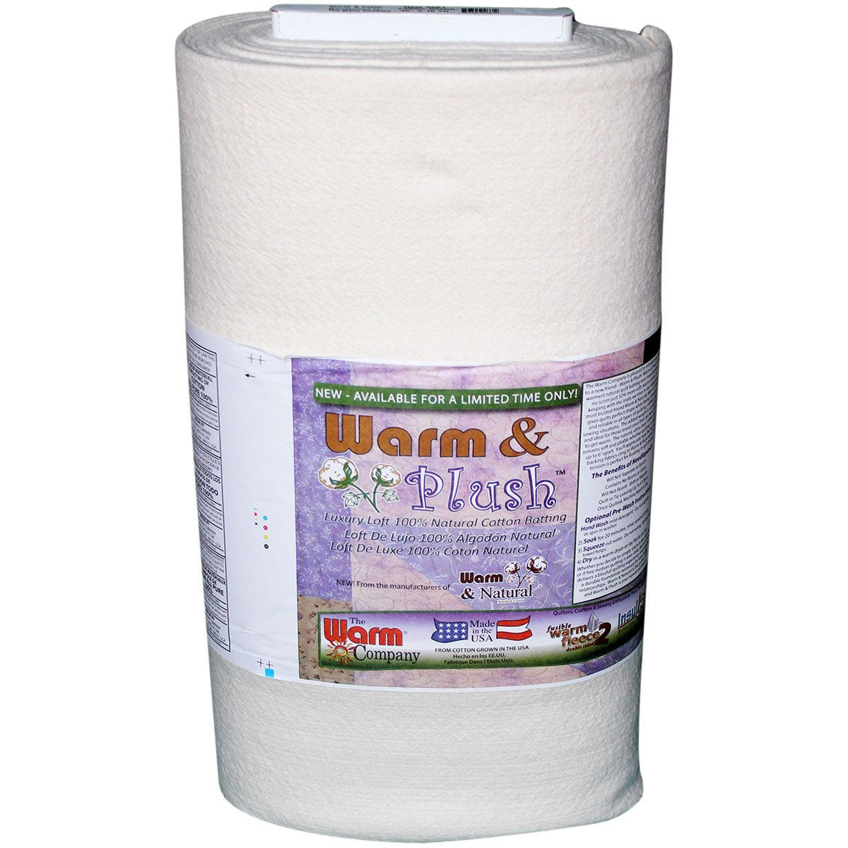 WARM COMPANY 2661 Warm and Plush Cotton Batting by The Yard, 45 by 10-Yard, Crib 45 by 10-Yard Notions