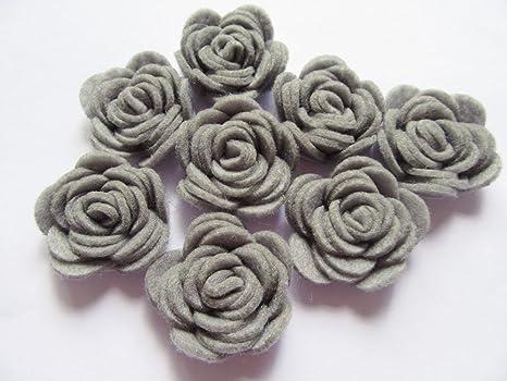 YYCRAFT Pack of 20PCS Felt Rose 1.5 4D Flower Applique//Bow-Baby Pink