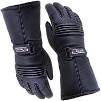 Bikers Gear motorfiets Thinsulate en waterdichte lederen handschoenen, zwart, maat 2XL