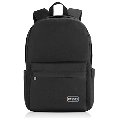 ca789d82aeb5 REYLEO School Backpack Classic Unisex Backpack for 15.6 inch Laptop ...