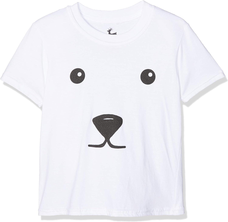 British Christmas Jumpers Polar Bear Kids Xmas T-Shirt Bambina