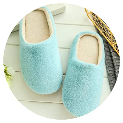 b1e6182e338 Slippers Women 2019 Interior House Plush Soft Cute Cotton Slippers Shoes  Non-Slip Floor Furry