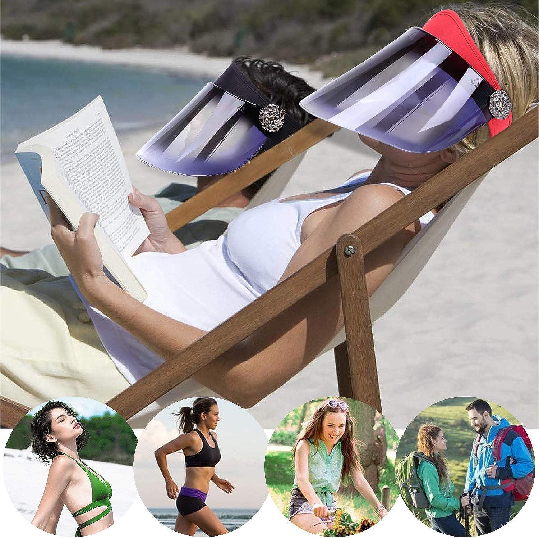 DORRISO Retro Damen Visier Cap Sonnenschutzkappe Anti-UV Sonnenschutz Hut Drau/ßen Radm/ütze Wanderung Reise Empty Top M/ütze