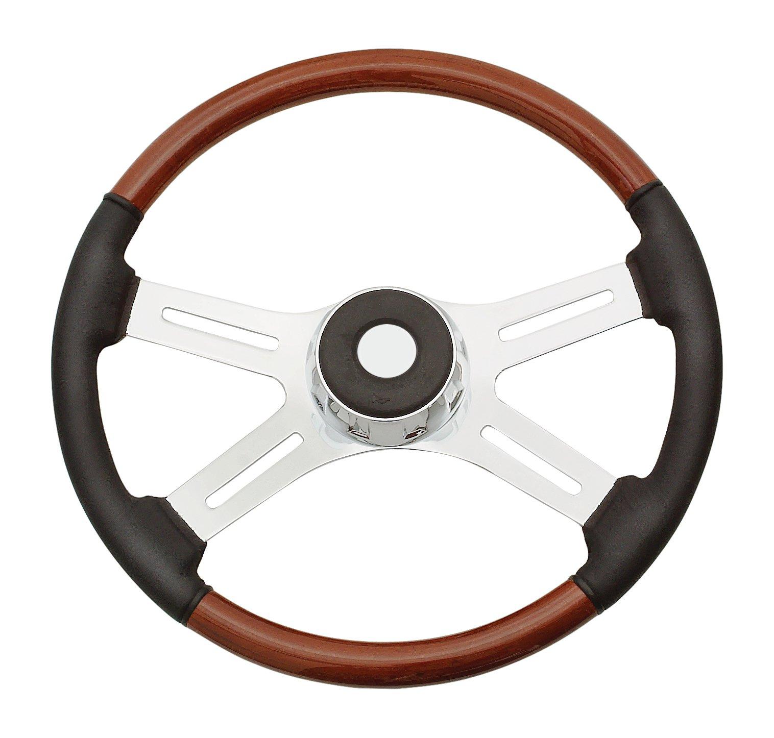 Woody's WP-SWPBL Rosewood Chrome Truck Steering Wheel (Beautiful African Hardwood)