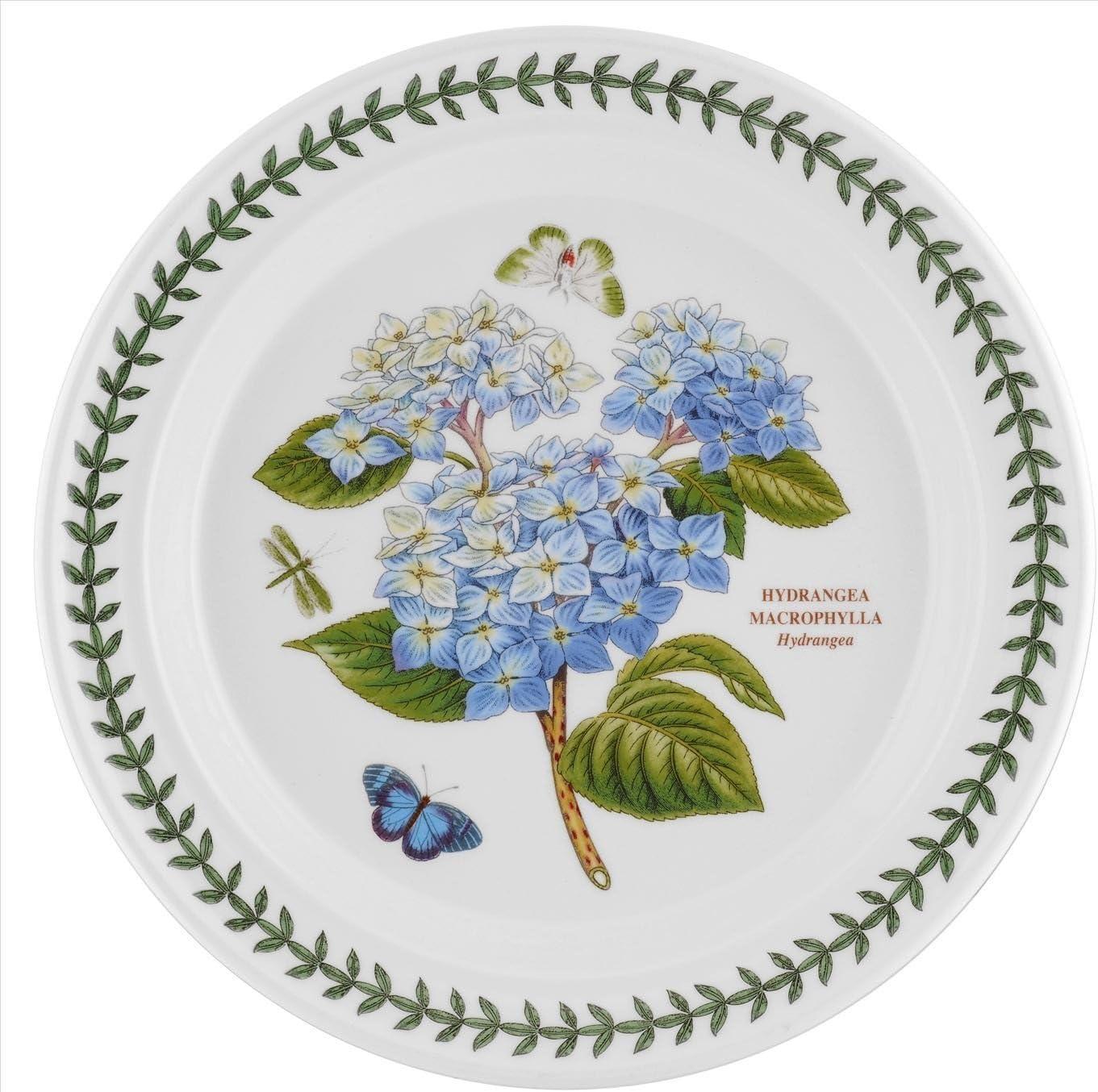 """Portmeirion Botanic Garden - 10"""" Dinner Plate - Hydrangea"""