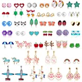 Hicdaw Stud Earrings for Girls Earring Hypoallergenic Cute Earrings Set Girls