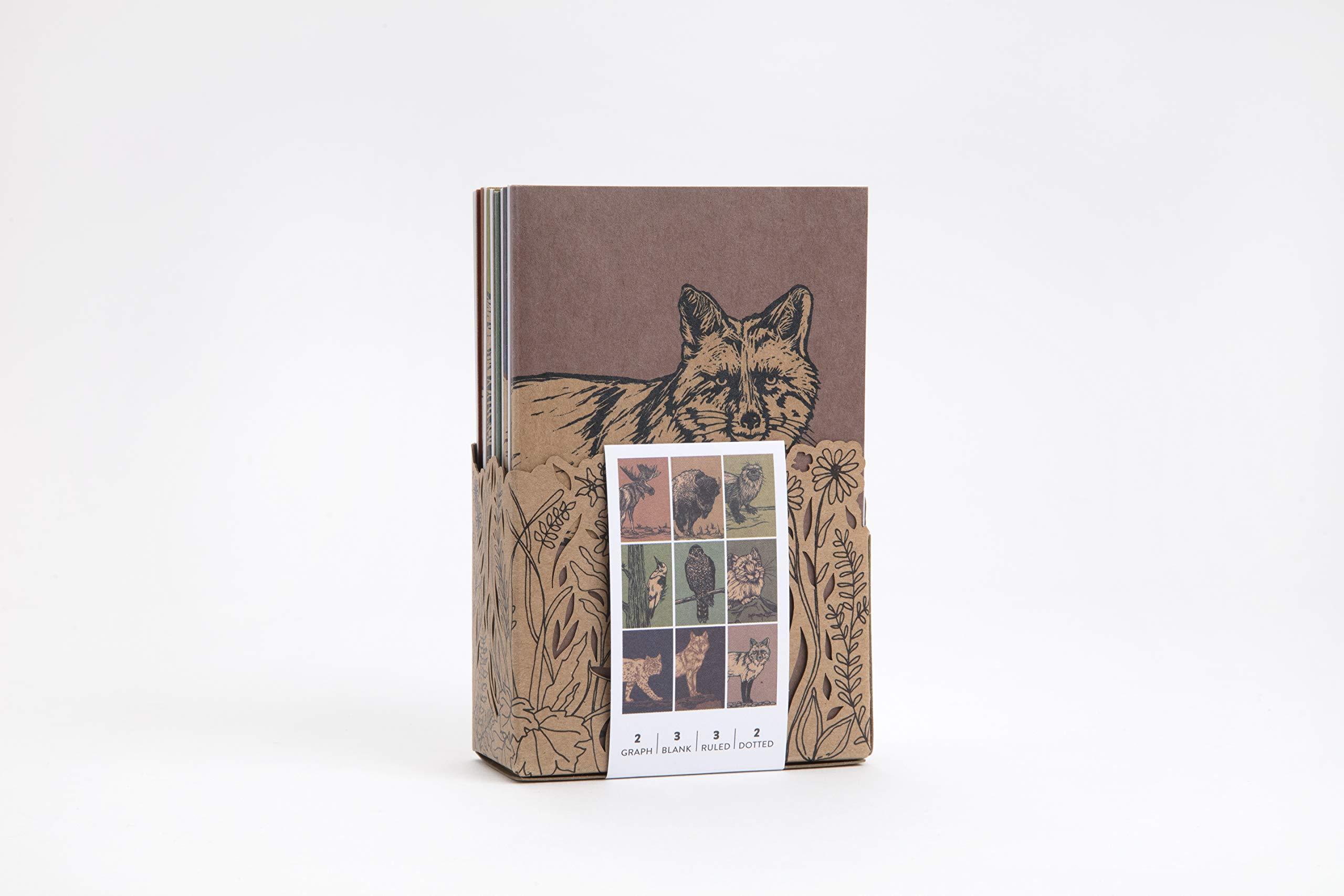 Animals Wildlife Hand Screen Printed Woods Elks Notebook Jotter Notepad To-Do List