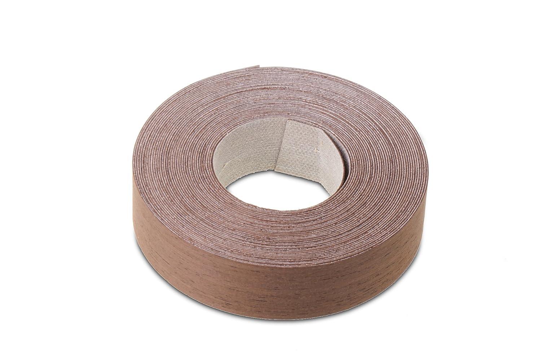 Wengé conçu pour bordure de Placage/placage Edge Bande Ruban adhésif (22mm Largeur x longueur de 7.5m)–Qualité supérieure pré-collées DIY thermocollant (Hotmelt) conçu po