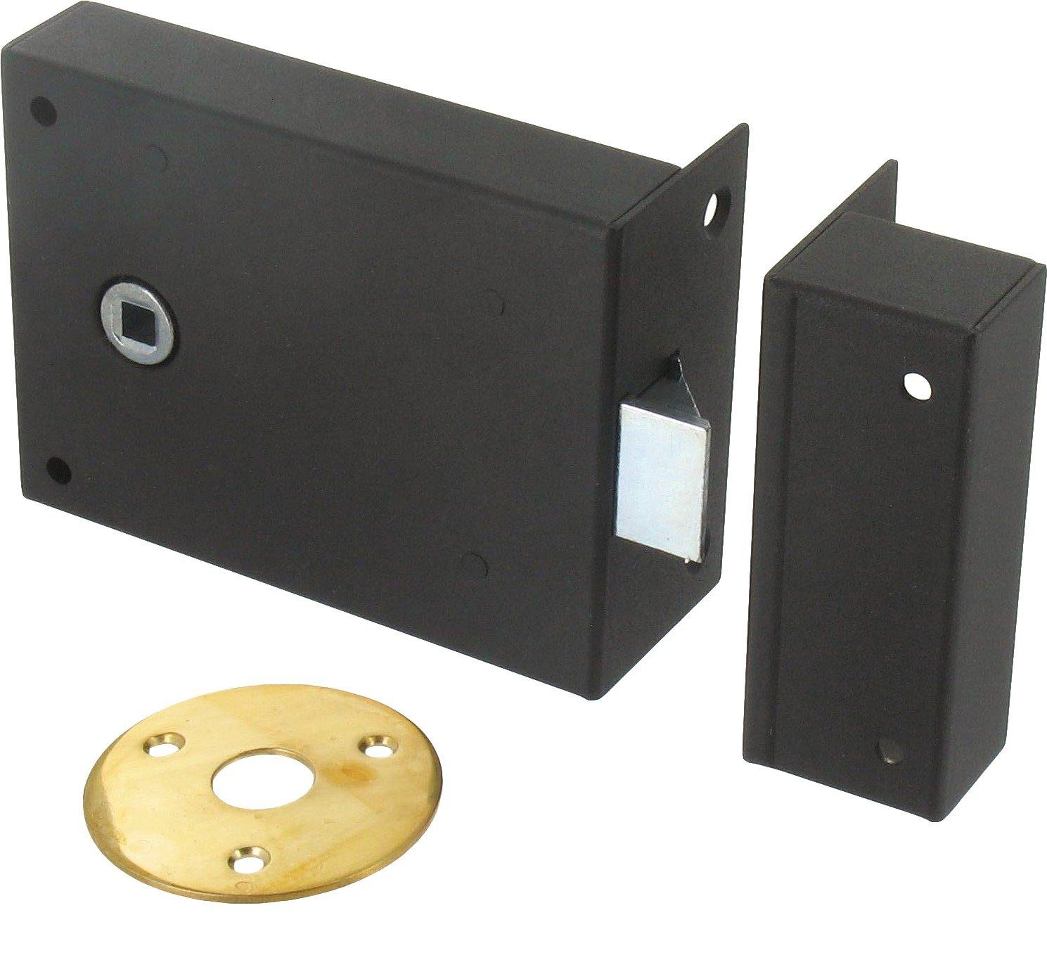Jpm - Serrure de securite a poser en applique horizontale-bec-de-cane - Ré f..155 - A.70 - B.95 - C.83