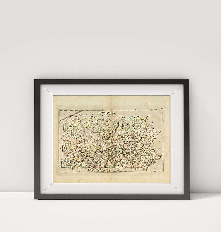 Infinite Photographs 1814 Map of  Pennsylvania Title: Pennsylvania.