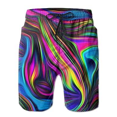 LarissaHi Color Arte Estampado de Flores Pantalones Cortos para ...