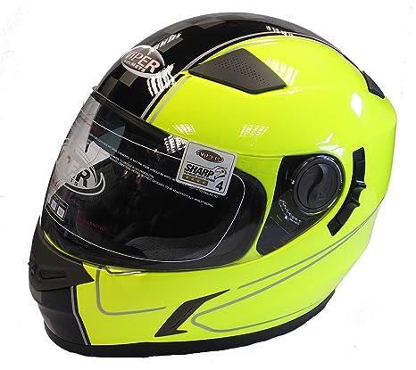 Casco de la Motocicleta VIPER RS-V9 Casco de Moto Casco Integral Visera Interior Amarillo
