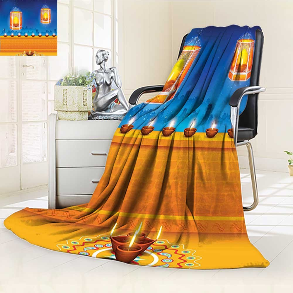 AmaPark Digital Printing Blanket Religious Celebration of India with Lights Candles and Night Scenery Printed Summer Quilt Comforter