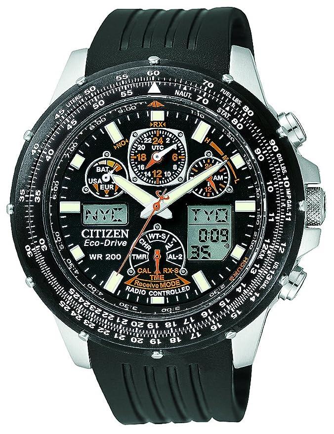 Citizen JY0000-02E - Reloj analógico de cuarzo para hombre, correa de goma color negro: Amazon.es: Relojes