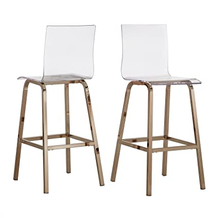 Pleasing Amazon Com Inspire Q Bold Gold 29 Miles Clear Acrylic Andrewgaddart Wooden Chair Designs For Living Room Andrewgaddartcom