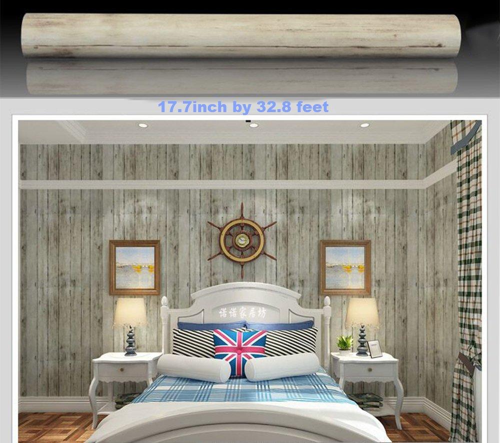 Forro de estante autoadhesivo de vinilo de papel de contacto de grano de madera rústica para gabinetes de cocina Encimeras Cajones Muebles Decoración ...