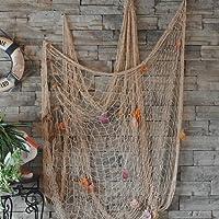 Cyfie - Rete da pesca decorativa, stile mediterraneo, cucita a mano
