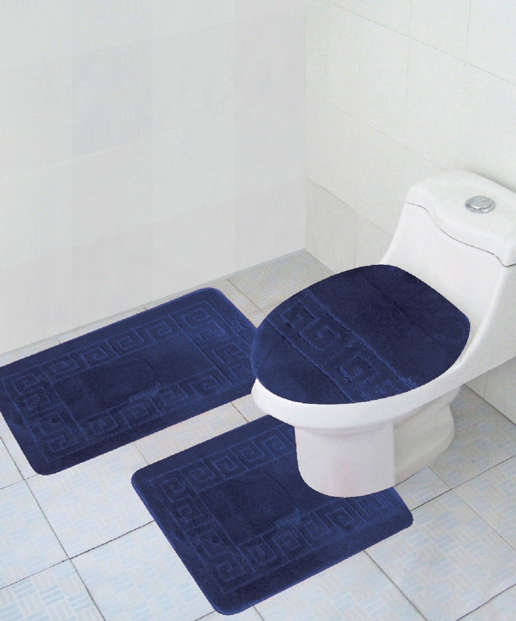 3 Piece Bath Rug Set Pattern Bathroom Rug (20\