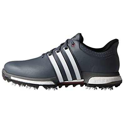 the latest ca528 c5561 adidas Tour360 Boost, Zapatillas de Golf Hombre, (Blanco Gris Rojo)