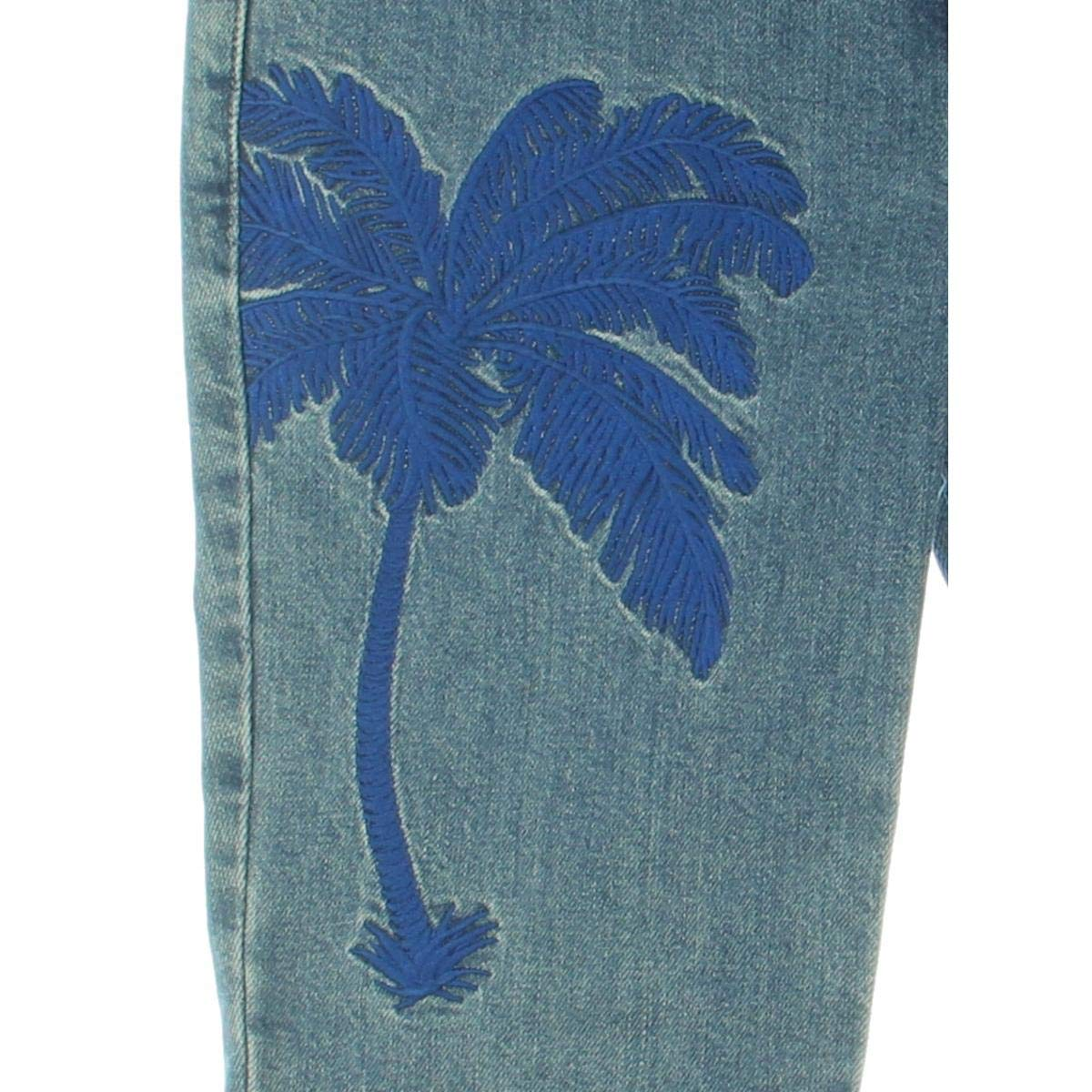 Stella McCartney Womens Embroidered Low Rise Bootcut Jeans