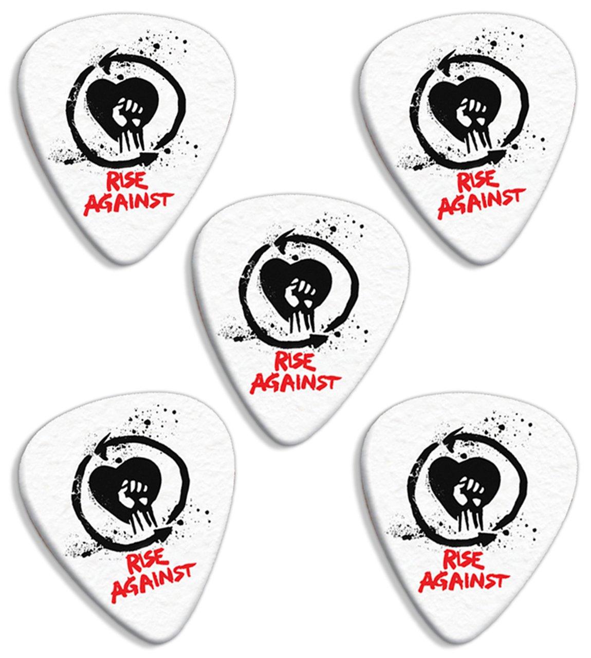 Rise Against ( Classic Logo Range) Premium Gitarre Plektrum Plektron Picks x 5 Printed Guitarra Picks