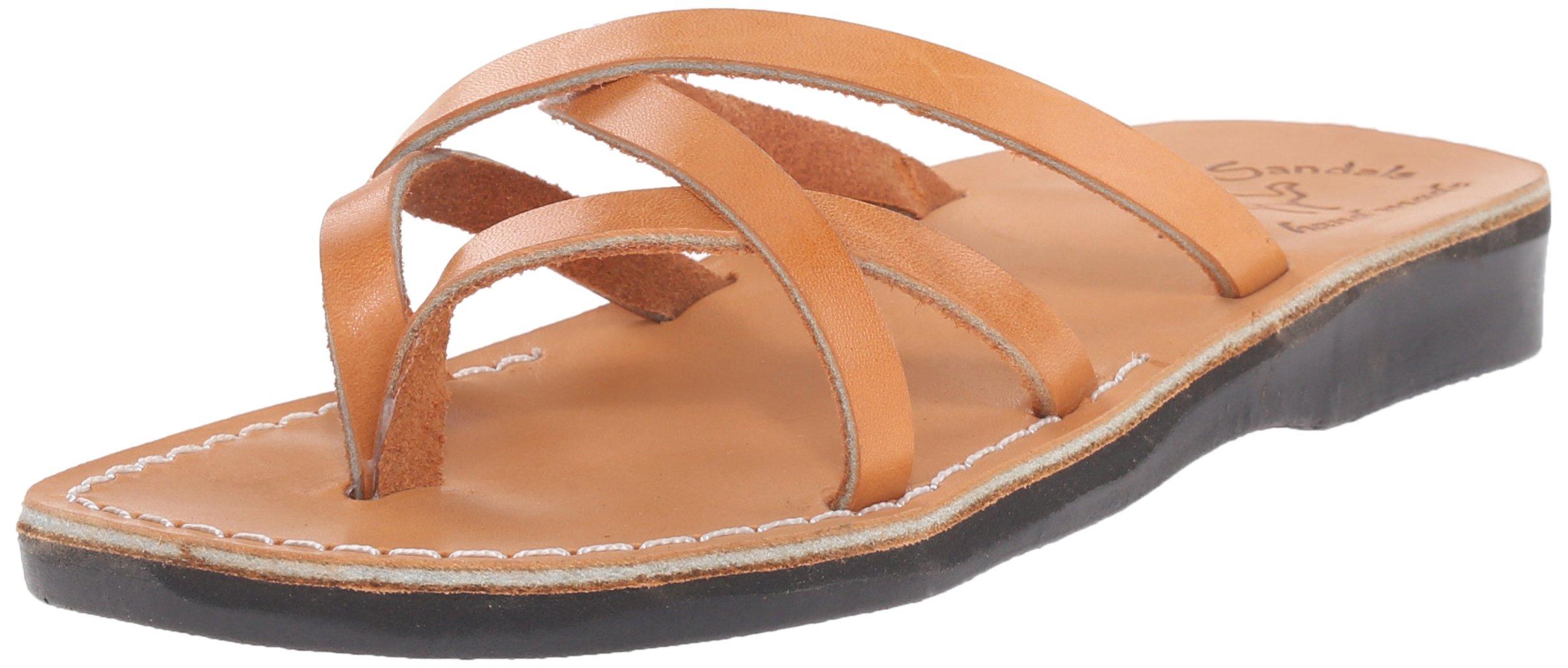 Jerusalem Sandals Women's Tamar Slide Sandal, Tan, 39 EU/8 M US by Jerusalem Sandals