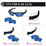 17d2775d57b PapaViva Replacement Lenses   Rubber Kits for Oakley Flak 2.0 XL Midnight  Sun - Polarized