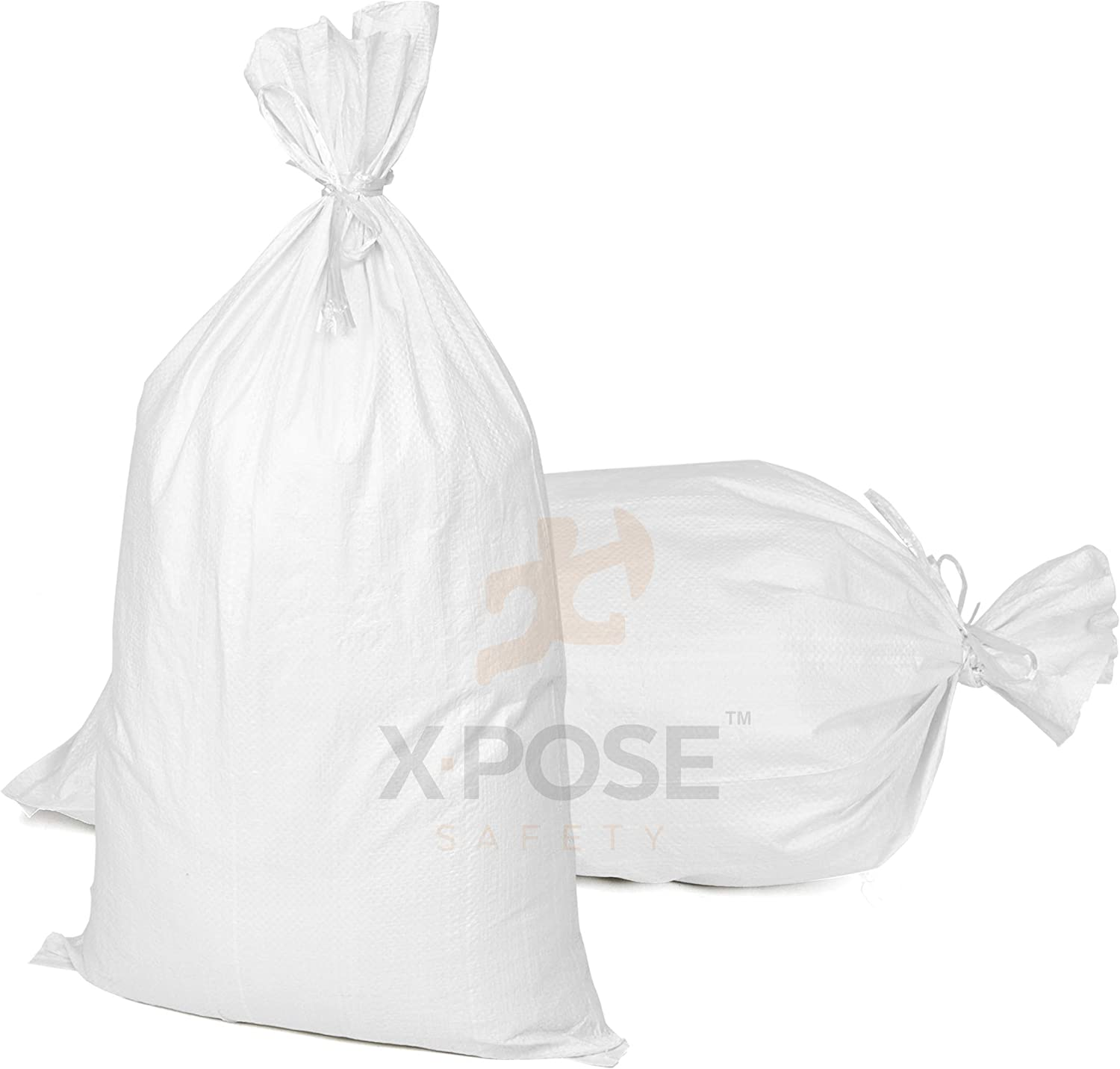 UV Protection 100Pack MTB Sand Bags 14x26 Empty White Woven Polypropylene w//Ties Also Sold in 10Pack // 50Pack. 17x27 // 18x30 Available